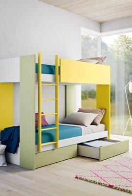Myl Idea progetta arredamento italiano per camere per ragazzi moderne, componibile e su misura a Torino, letto a castello
