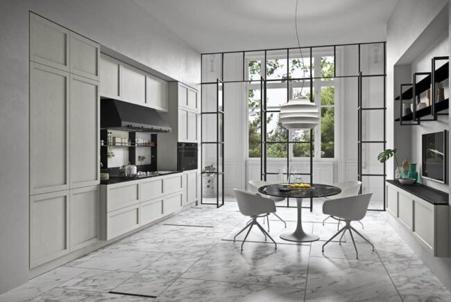 Myl Idea - cucine moderne italiane e arredamento componibile a Torino - cucina bianca open space