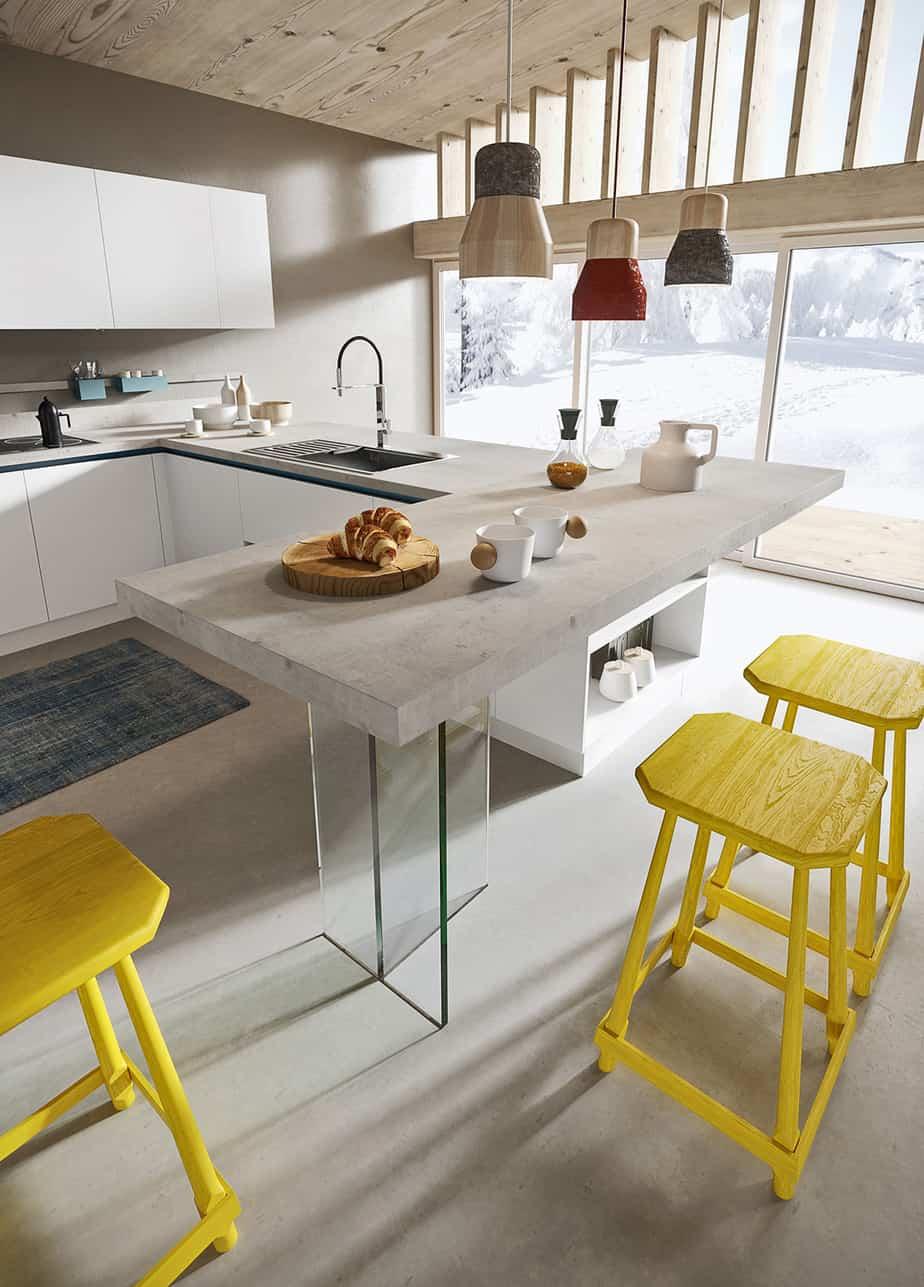 Myl Idea - cucine moderne italiane e arredamento componibile a Torino - cucina isola industrial o open space